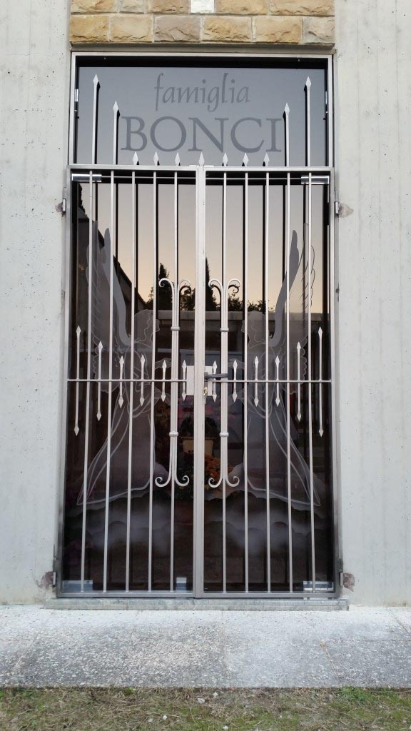 cancello in ferro edicola funeraria
