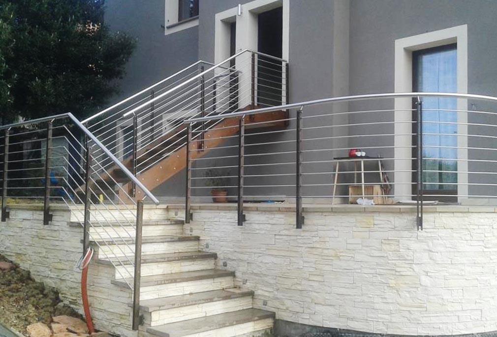 scale ringhiere acciaio inox corten